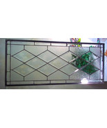 Stained Glass Window Transom/Sidelight  -  Antique Diamond - Beveled Glass - $147.00