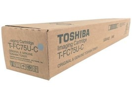 Genuine Toshiba TFC75UC (T-FC75U-C) Cyan Toner Cartridge OEM - $115.94