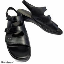 SAS Sandals Womens Sz 7.5N Quatro Slingback Tripad Comfort Black Strappy... - $39.55