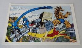 Original 1978 Fantastic Four Marvel Comics poster 1:Kirby art/1970's Mar... - $39.59