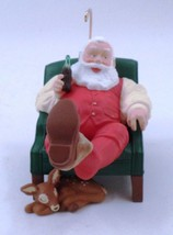 1999 Coca Cola Santa Claus Kicking Off Boots w/ Baby Reindeer Christmas ... - $11.53