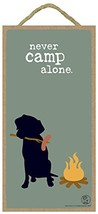 """Never Camp Alone 5"""" x 10"""" Wood Plaque featuring the artwork of Dog Is Good - $12.86"""