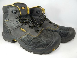 Keen Logandale Size: 12 M (D) EU 46 Men's WP Steel Toe Work Boots Black 1017828