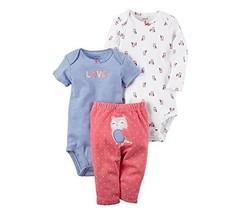 Carter's Baby Girls' 3 Piece Owl Set 24 Months - $37.17