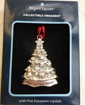 Regent Square Silver Color W/European Crystals Christmas Tree Holiday Or... - $9.89
