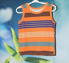 Garanimals Tank Top Size 4T Orange Blue Striped Summer - $6.89