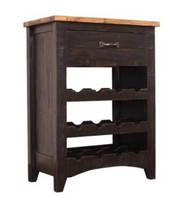 Anton Distressed Black Wine Rack - $282.15
