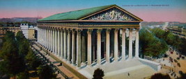 PARIS in 1900s Beautiful Chromotype Photo - Church Eglise de la Madeleine - $21.60