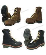 """Mens Logger Boots Leather 10"""" Good Year Welt Rugged Work Motorcycle Bike... - $58.30+"""