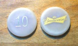(1) Vintage $10. Budweiser Poker Chip - Bow Tie Chip - $6.95
