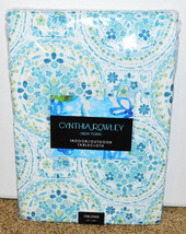 "New Cynthia Rowley Indoor Outdoor Tablecloth 60"" x 84"" Oblong Geometric ... - $49.49"