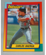 1990 Topps #6T Carlos Baerga Cleveland Indians Baseball RC Rookie Card M... - $9.88