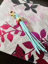 Light Blue and Gold Clip On Tassel - $7.49
