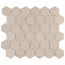 """SomerTile FTC2MDBL Medley Hex Porcelain Mosaic Floor and Wall, 11.125"""" x 12.625"""" image 4"""