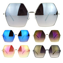 SA106 Color Lens Octagon Oversize Designer Fashion Sunglasses - $12.82+