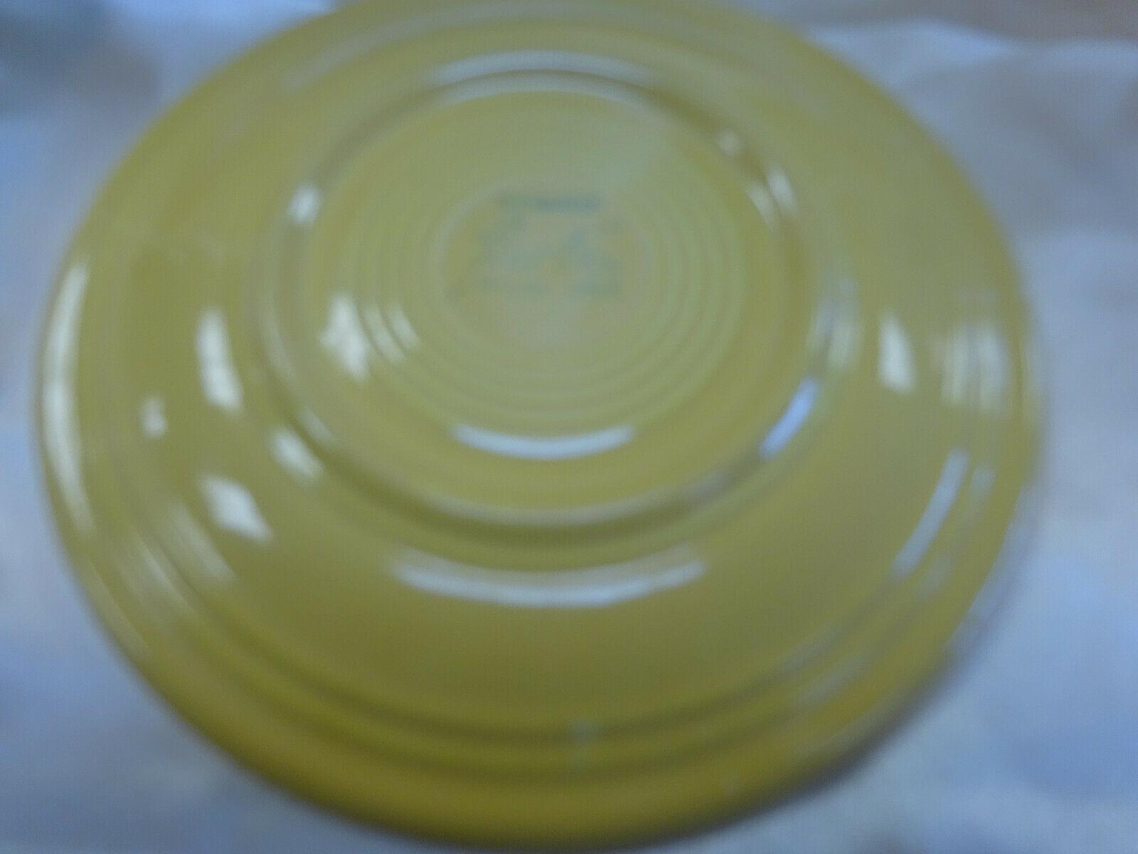 "Vintage FIESTA Homer Laughlin Harlequin 7.5"" Yellow Salad PLATE 1950's"