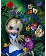 Disney Parks Wonderground Gallery Alice In The Garden Post Card - $28.70