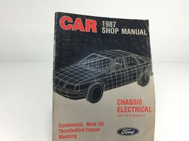 1987 Ford Car Shop Manual Chassis Electrical Part I Cougar Thunderbird Mustang - $14.99