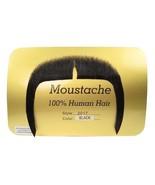 Moustache Mandarin Fu Man Chu Biker Long Black Human Hair Rubies 2017 - $12.95