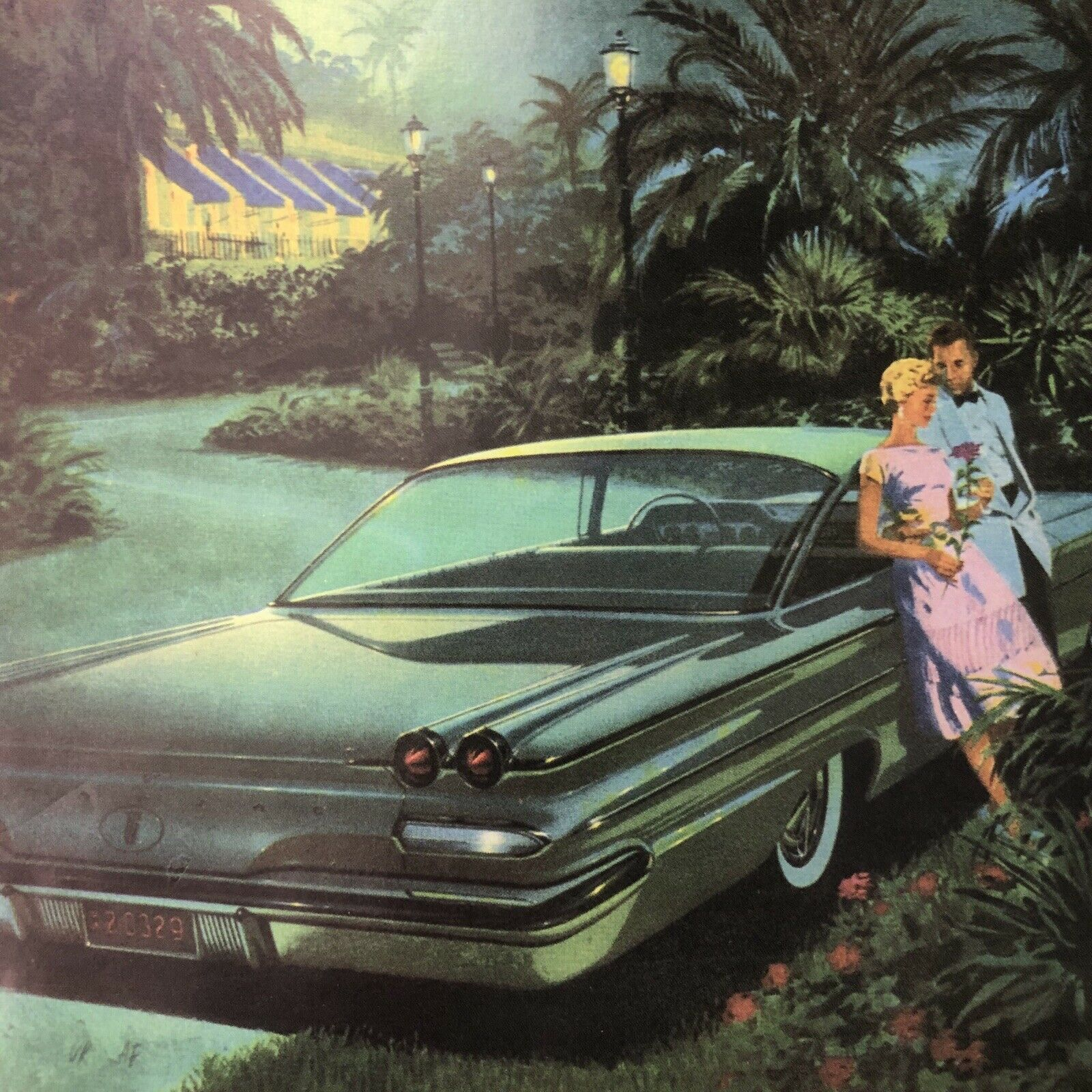 Primary image for 1960 Pontiac Ventura Sports Coupe Date Night Print Ad 11 X 8 1/4