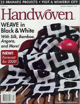 Handwoven magazine jan/feb 2007: BLACK/WHITE bamboo silk - $18.67