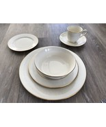 Lenox Courtyard Gold China 6 Piece Place Setting Dinnerware!  EUC - $539.55
