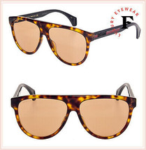 GUCCI SEGA Stripe 0462 Black Havana Orange Sport Aviator Sunglasses GG0462S - $257.40