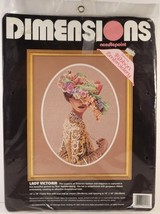Dimensions Lady Victoria Needlepoint Ribbon Embroidery Kit Halstenberg 1... - $31.68