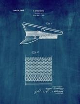 Military Cap Patent Print - Midnight Blue - $7.95+