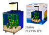 Prism Nano Desk Top Aquarium Kit, Blue, 2 Gallon, w/LED light & Filter syst, New