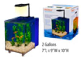 Prism Nano Desk Top Aquarium Kit, Blue, 2 Gallon, w/LED light & Filter syst, New