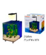 Prism Nano Desk Top Aquarium Kit, Blue, 2 Gallon, w/LED light & Filter s... - $58.33