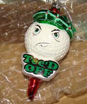 Glass Tee'd Off (Golf Ball) Ornament (Kurt S. Adler, C1954) - $9.90