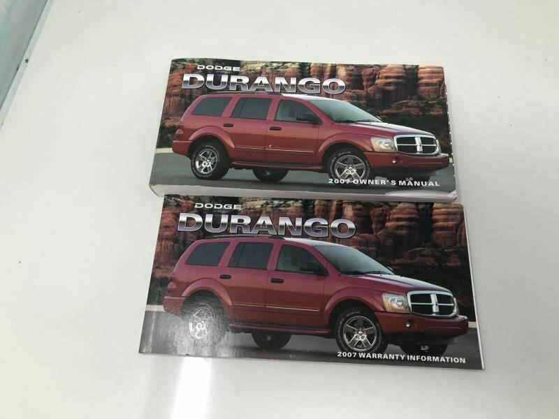 2007 Dodge Durango Owners Manual Case Handbook OEM Z0A115