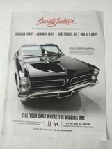 1965 Pontiac GTO Convertible Original Magazine Print Ad Black American Muscle - $16.81