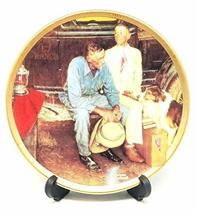 """""""Breaking Home Ties"""" by Norman Rockwell 4 Inch Small Plate - $24.74"""