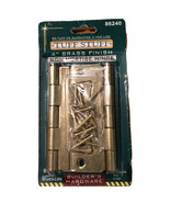 """Tuff Stuff 86240 Polished Brass Plated 4"""" Non-Mortise Hinges With Screws... - $7.69"""