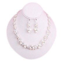 Pendant Earrings & Exquisite Necklace Bridal Dowry Set Beautiful Wedding Jewelry