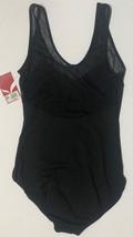 Capezio Leotard Unitard Black Sheer Top Sz L I15 image 5