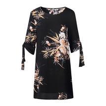 5XL Plus Size Dress Women Summer Sundress Blue Pearl Chiffon Dress Offic... - $23.99+