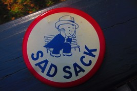 Vintage Original Sad Sack Advertising Button Pin From WW11 Comic Book Character - $38.00