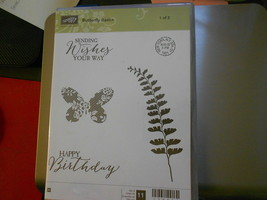 Stampin Up Wooden Stamp Set (new) BUTTERFLY BASICS 2-sets (11 stamps) - $42.64