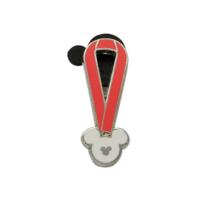 Disney Pin 2010 Hidden Mickey 3 of 5 Red Lanyard Ribbon - $6.76