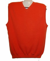 Solid Orange Men's Puma Cotton Sweater Vest Size M NEW - $34.64