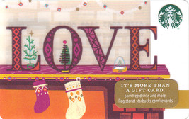 Starbucks 2016 Love Collectible Gift Card New No Value - $4.99