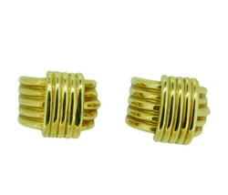 Pair of 18k Yellow Gold Bold Heavy Earrings (#J4613) - $1,095.00