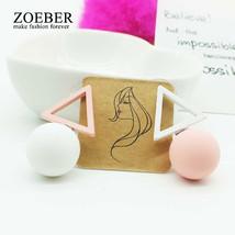 Zoeber Cute Simple ball Stud Earrings For Women Sweet Candy Ball geometr... - $8.32