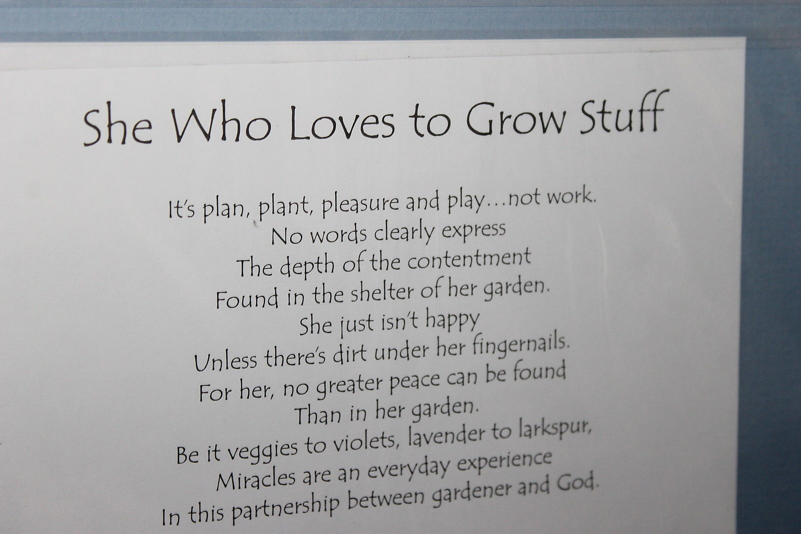 "Suzy Toronto ""She Who Loves to Grow Stuff ""  Matted Print, New in Factory Sealed"