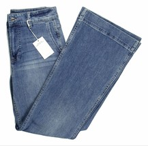 J Crew Womens Wide-Leg Trousers Denim Jeans in Light Lagoon Wash Blue K5... - $59.79