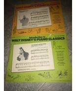 LOT 2 Introduction to Walt Disney's Piano Classics Peter Pan Cinderella ... - $31.35